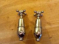 Quirky antique chrome bottle bath taps