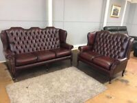 Chesterfield sofas ox blood