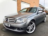 2007 57 Mercedes-Benz C Class C220 CDI Auto 120k Leather++AMG Alloys FSH not 320d e220 c250 a4 2.0