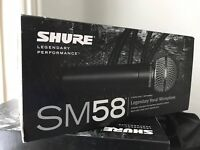 x 3 Shure SM58 Microphone BRAND NEW & UNBOXED