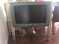 """Philips 32PW9523 32"""" TV and Alba Freeview box."""