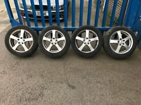 "**4 x 16"" Ford Mondeo Dezent Alloy Wheels With Tyres - 5x108**"