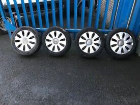 "**4 x 16"" Audi A3 Alloy Wheels With Good Tyres - 5x112**"