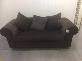 Anita Chocolate brown fine cord velour metal action sofabed NEW RRP £449