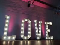 5ft LED LOVE letters