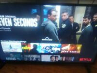 """SHARP 49"""" AQUOS SMART LED HD TV NETFLIX APPS......3 MONTHS OLD £250 COLLECT TODAY FRIDAY"""