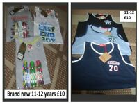 boys vest brand new with tags 11-12 years £4 each or £10 each bundle or £18 for both
