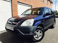 2003 03 Honda CRV 2.0 Litre I VTEC SE* Manual* Petrol* 4 Wheel Drive* Estate* Blue* Not Xtrail X3 Q5