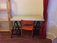 IKEA TABLE (LIMMON) + TRESTLES (ODDVALD) + FOLDING CHAIR (NISSE, optional)