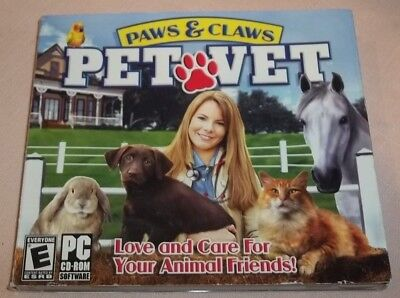 Paws and Claws: Pet Vet (CD-ROM, 2006, WIN 98/ME/XP, Valusoft) VGC