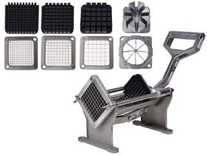 Potato French Fry Fruit Vegetable Commercial Cutter Slicer Cutting W/ 4 Blades