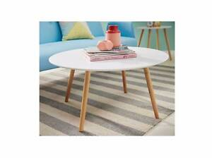 Used white round coffee table - legs are loose Grange Charles Sturt Area Preview