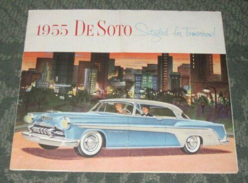 ORIGINAL 1955 BROCHURE - 1955 DE SOTO - STYLED FOR TOMORROW