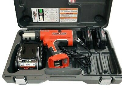 Ridgid Rp210 Compact Battery Pro Press Plumbing Tool 18v - Without Jaws