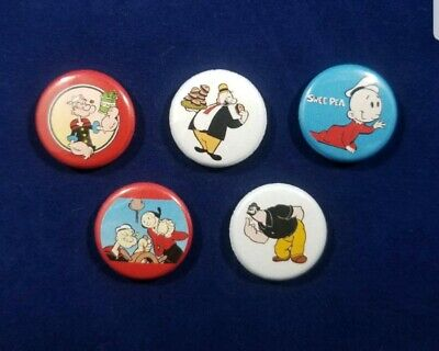 Popeye the Sailor set of 5 one inch 1
