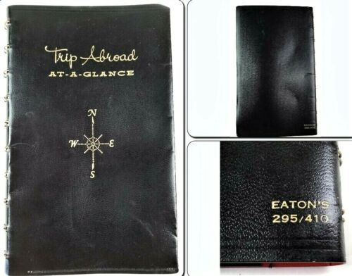 Vintage Eatons Trip Abroad At-A-Glance Travel Diary 1968 Mostly Blank Pages Maps