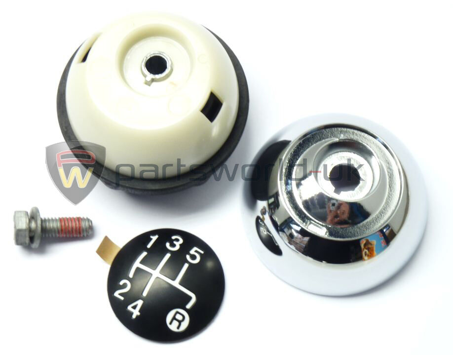 fiat 500 500c polished chrome effect gear knob kit 55344048 new genuine eur 70 38. Black Bedroom Furniture Sets. Home Design Ideas