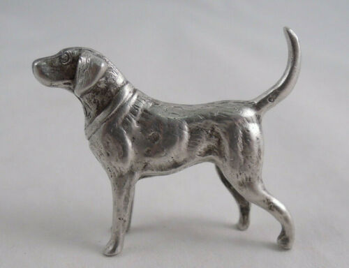 800 SILVER DOG FIGURINE NOT STERLING