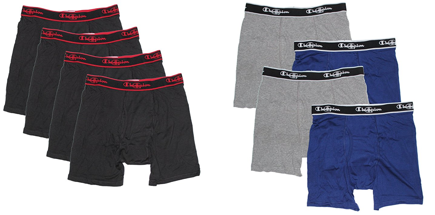 Champion Elite Men's Boxer Briefs 4 PACK S M L XL Smart Temp
