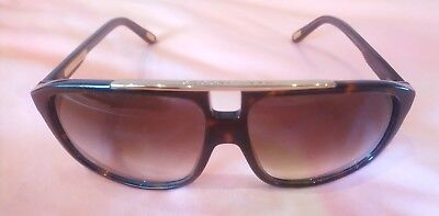 Marc Jacobs MJ Designer Sonnenbrille Brille Sunglasses Braun Gold Aviator lv