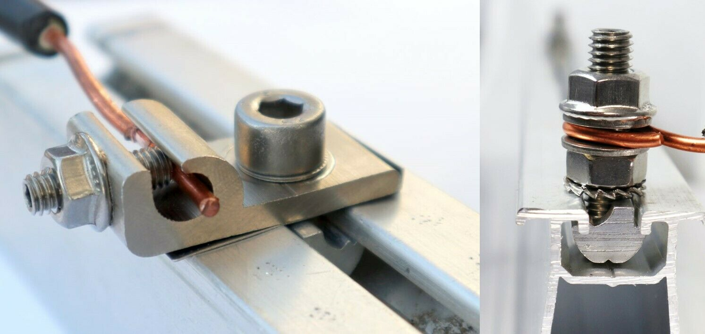 10 Stück Nutensteine ALU M8 für PV-Montageschienen