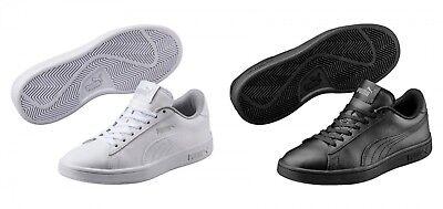 Puma Smash v2 L Jr Low-Top Unisex Kinder Damen Schuhe Sneaker Laufschuhe Weiss (Tennis-schuhe Kinder)
