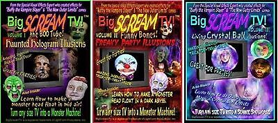 Big SCREAM TV Vol 1, 2 OR 3 Haunted Hologram Illusions Halloween Special Effects (Halloween Movie Specials Tv)