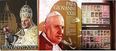 Pontificado Juan Xxiii - Todos los Sellos en Elegante Carpeta