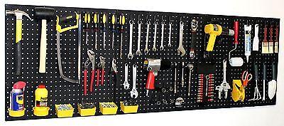 Wallpeg 72 Wide Pegboard Kit Peg Hooks Bins - Garage Storage Tools Eb24243b