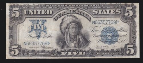 US 1899 $5 Chief Silver Certificate FR 281 VF (769)