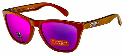 Oakley Frogskins Sunglasses OO9013-F955 Red / Gold Shift | Prizm Trail (Oakley Sunglasses Gold Lens)
