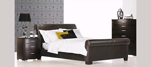 RRP$9,500 King Size Bedroom Package Real Leather Bed & Mattress East Brisbane Brisbane South East Preview