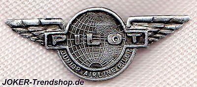 Anstecker Pilot 2 Stück Pin Luftfahrt Flugzeug Jet Junior Airline Pilot