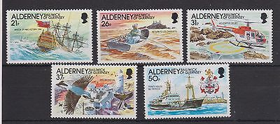 ALDERNEY 1991 AUTOMATION OF THE CASQUETS LIGHTHOUSES STAMP SET MNH SG A47-A51