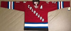 2001 Peter Forsberg Colorado Avalanche Burgundy Jersey Size Men's Large