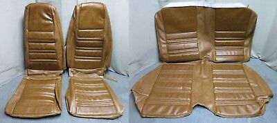 (70 Mustang Coupe Full Set Bucket Back Seat Cover Upholstery Reproduction Ginger)