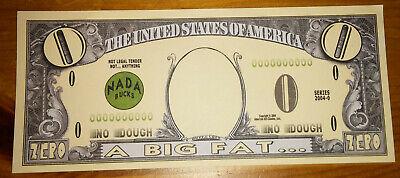 Big Fat Zero Novelty Bank Note Gift Idea Put in Birthday Christmas Card Joke LOL