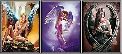 3D Poster Gothic Women Vixens - Wings - 3 Views in one - 3D Lenticular 12x16