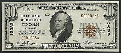 Fr1801 1  10 National Bank Of Lincoln  Nebraska Ch  13333    Au    Bt6103