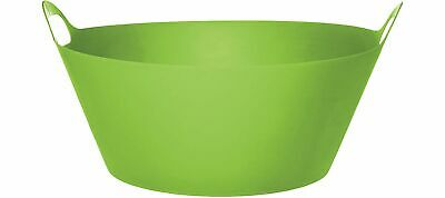 Kiwi Green Plastic Party 8 Gallon Tub with Handles Cold Beverages Snacks