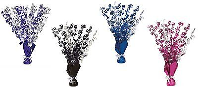 40th Birthday Party Foil Table Cascade Centrepiece Decoration Assorted Colours - 40th Birthday Table Centerpieces