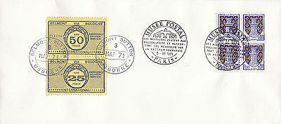 1971 STRIKE MAIL OSBORNE'S 25p & 50p INTERNATIONAL POST TO FRANCE COVER