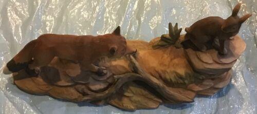 Fox and Bunny Figurine Lefton China