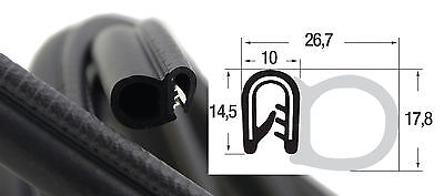 DS2 Kantenschutz Dichtung seitlich Dichtungsprofil Kofferraum Gummi EPDM PVC