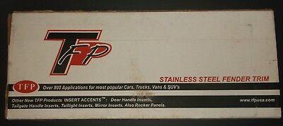 TFP STAINLESS STEEL FENDER TRIM BUICK CENTURY SHORT REGAL 97-03 4DOOR BU-07S NEW