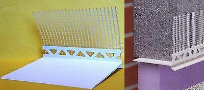 15 Stab PVC Sockelkantenprofil Sockelprofil, 2m lang, 120 mm mit Tropfkante WDVS