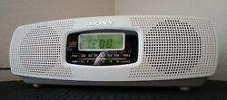 Sony ICF-CD820 Stereo CD Player Digital Dual Alarm Clock Radio AM FM. Working