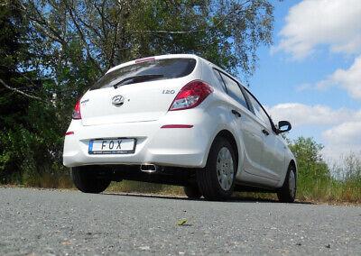 Fox Auspuff Sportauspuff Endschalldämpfer Hyundai i20 1,2l 57/63kW