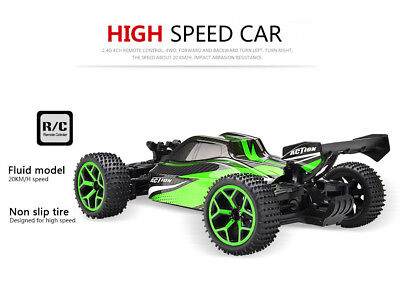 1/18 Rc Off-Road Truck 4wd Extreme Speed Car Buggy Toy Vehicle Green