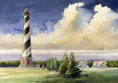 Cape Hatteras Outer Banks North Carolina - Cape Hatteras Lighthouse, Outer Banks, North Carolina. James Mann Art Prints